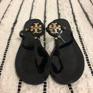 Black Tory Burch Mini Miller Sandals